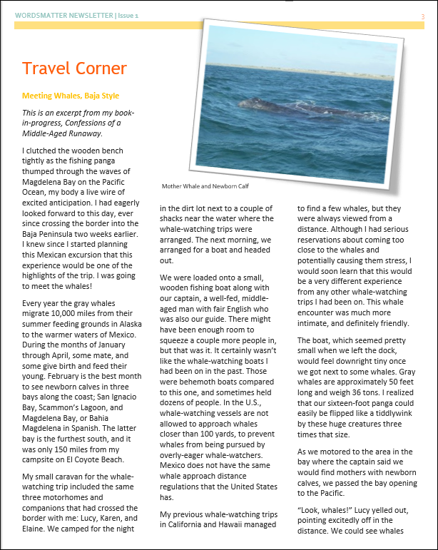 Newsletter April 2018 page 3 snip